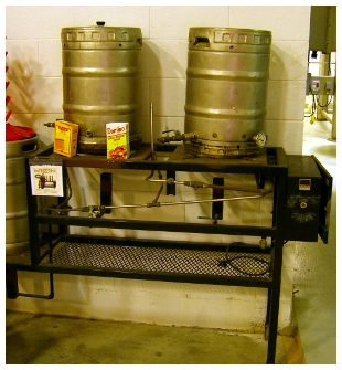 The brew kit that started it all for DFH.  Location DFH Brewery